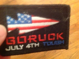 GoRuck challenge patch