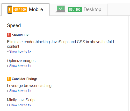 google page speed test results after installing maxcdn