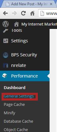 performance general settings